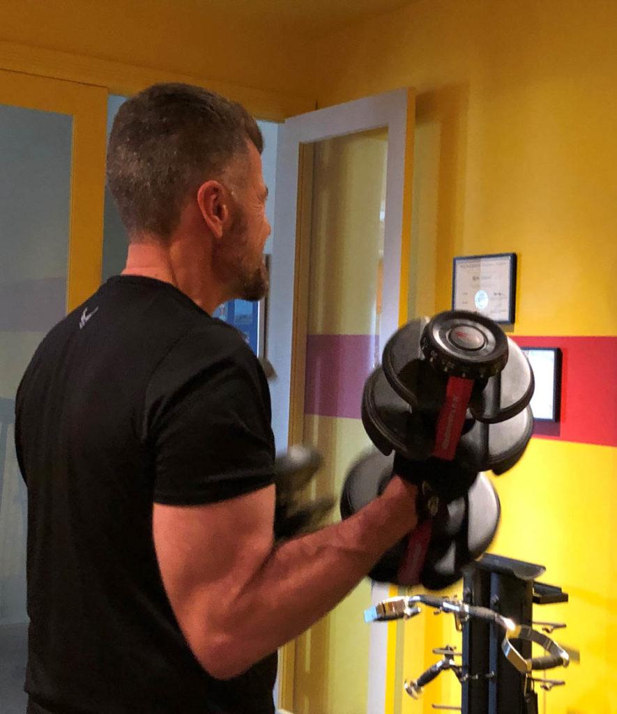 rene - lifting weights