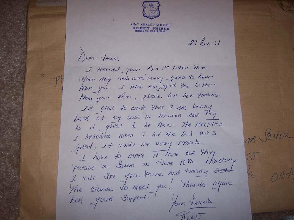 Rene's last letter to Jason